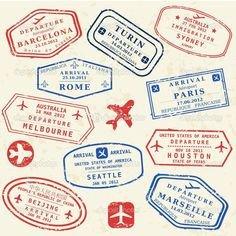 Health Fair Passport Template Passport Invitation Template Vector