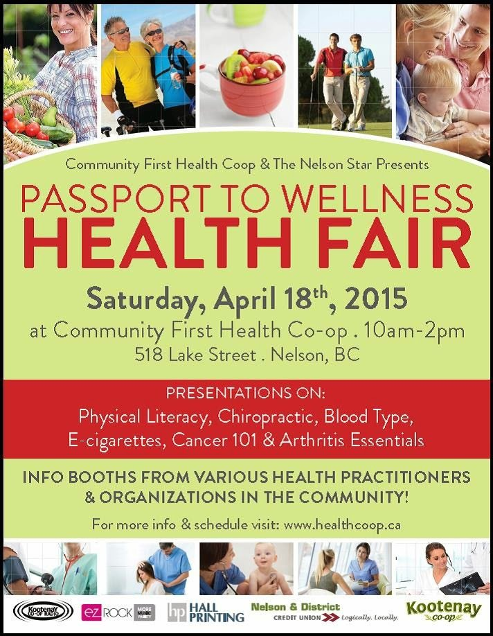 Health Fair Passport Template What S New From Your Munity Health Co Op