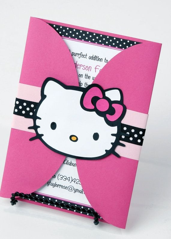 Hello Kitty Birthday Invitation 25 Best Ideas About Hello Kitty Invitations On Pinterest