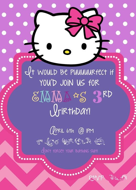 Hello Kitty Birthday Invitation 581 Best Images About Hello Kitty On Pinterest