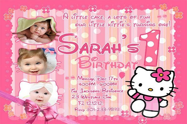 Hello Kitty Birthday Invitation 71 Printable Birthday Invitation Templates Word Psd
