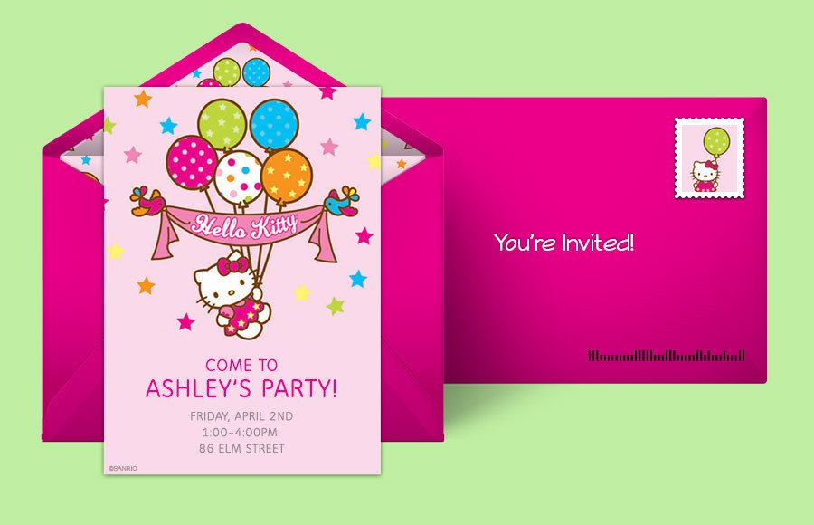 Hello Kitty Birthday Invitation Free Hello Kitty Invitations Hello Kitty Line