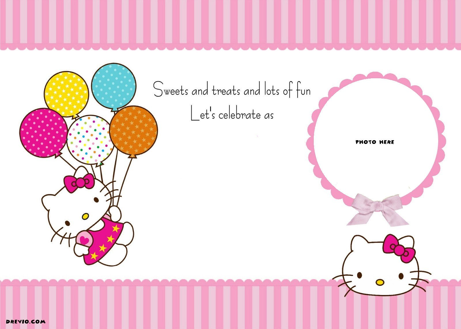 Hello Kitty Birthday Invitation Free Personalized Hello Kitty Birthday Invitations