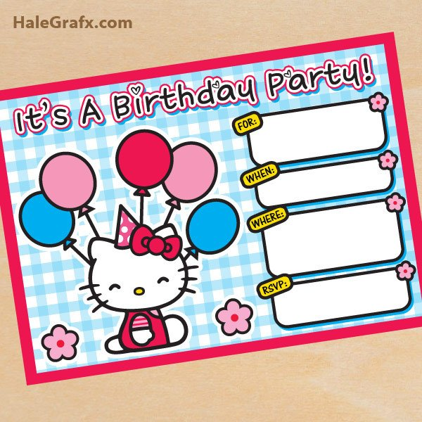Hello Kitty Birthday Invitation Free Printable Hello Kitty Birthday Invitation