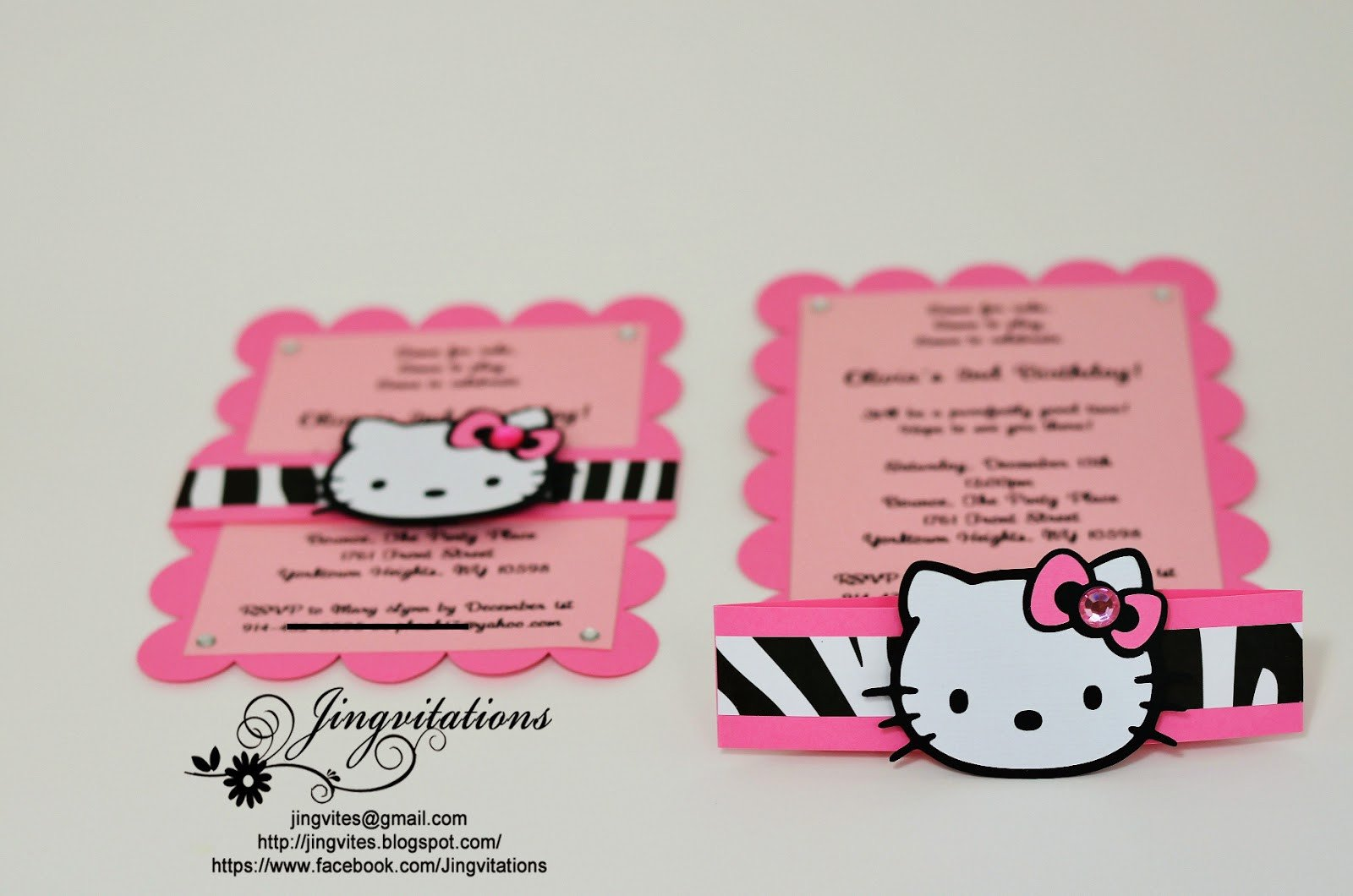Hello Kitty Birthday Invitation Jingvitations Hello Kitty Birthday Party Invitations