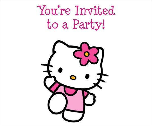 Hello Kitty Invite Template 52 Birthday Invitation Templates Psd Ai