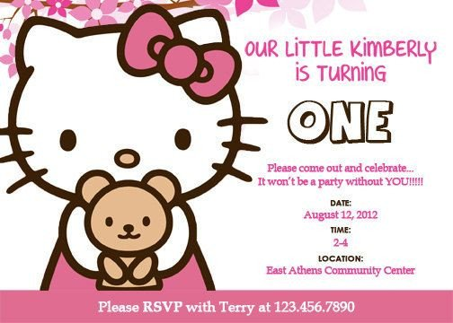 Hello Kitty Invite Template Best 25 Hello Kitty Invitation Card Ideas On Pinterest