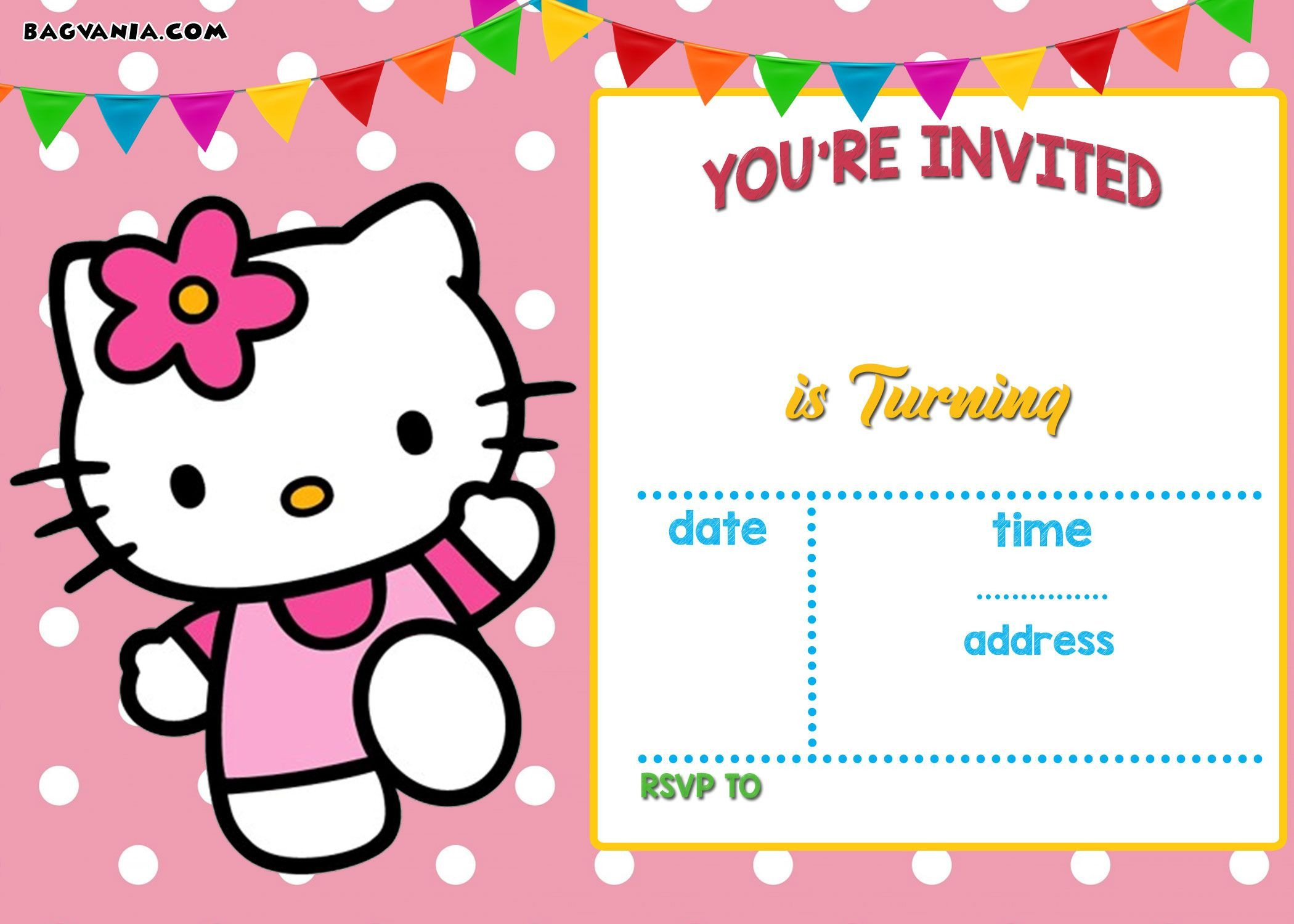 Hello Kitty Invite Template Free Hello Kitty Invitation