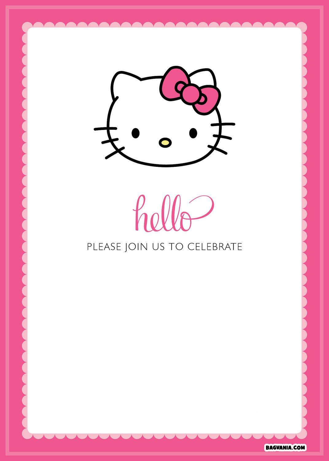 Hello Kitty Invite Template Free Printable Hello Kitty Birthday Invitations – Free