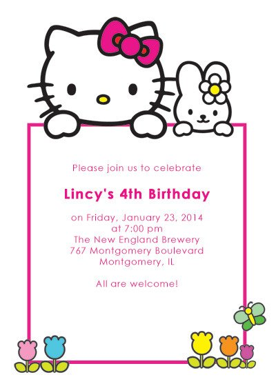 Hello Kitty Invite Template Hello Kitty Free Birthday Invitation ← Wedding Invitation