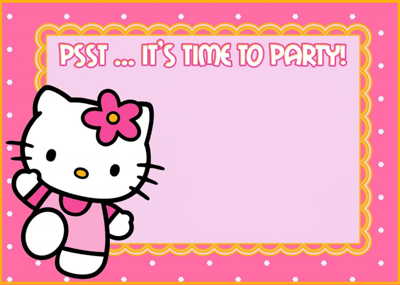 Hello Kitty Invite Template Hello Kitty Free Printable Invitation Templates