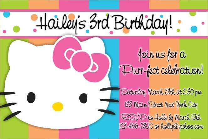 Hello Kitty Invite Template Party Invitation Templates