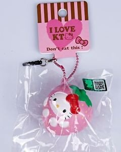 Hello Kitty Squishy Tag 1 Pc Hello Kitty Pink Strawberry Scented Squishy Charms