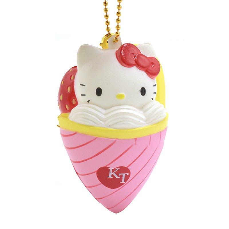 Hello Kitty Squishy Tag 7cm Licensed Hello Kitty Ice Cream Squishy Simulation Food