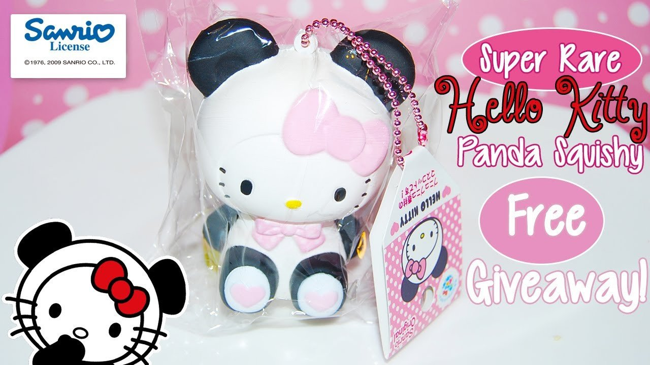 Hello Kitty Squishy Tag Free Giveaway Super Rare Sanrio Licensed Hello Kitty