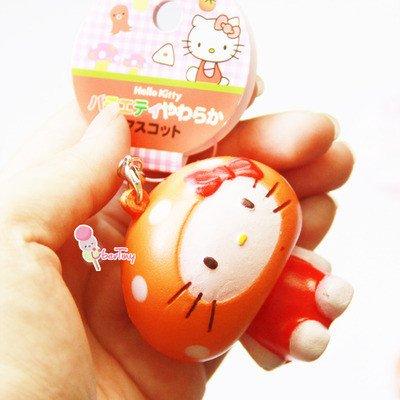 Hello Kitty Squishy Tag Hello Kitty orange Costume Squishy with Tags