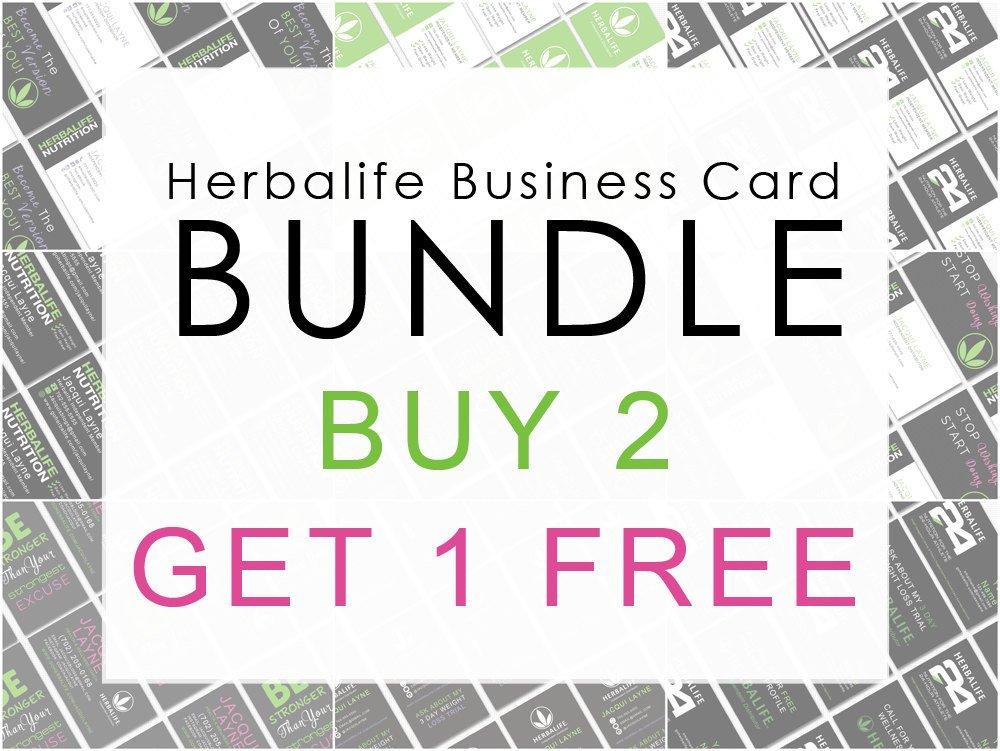 Herbalife Business Card Template Herbalife Business Card Bundle Buy 2 Get 1 by