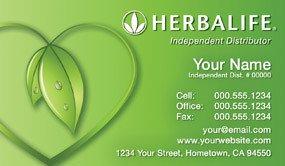 Herbalife Business Card Template Herbalife Business Cards 1000 Herbalife Business Card $59 99
