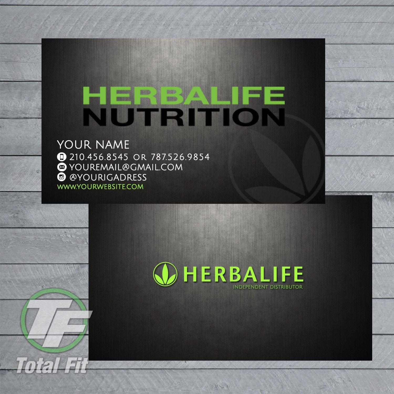 Herbalife Business Card Template Herbalife Business Cards Herbalife Graphics by totalfitwear