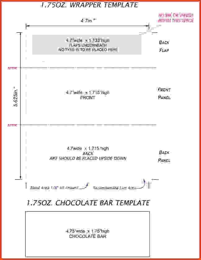Hershey Bar Wrapper Template Hershey Bar Wrapper Template