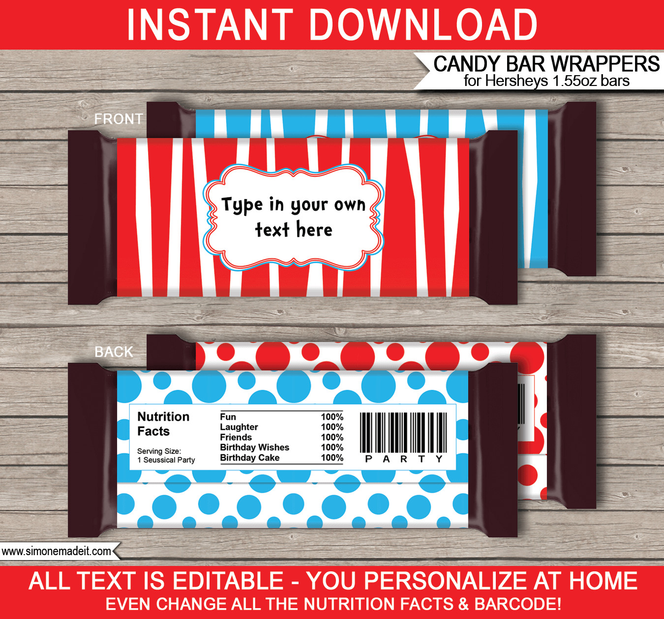Hershey Candy Bar Wrapper Template Dr Seuss Hershey Candy Bar Wrappers