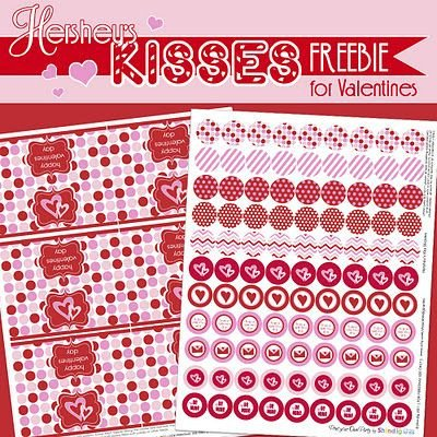 Hershey Kiss Labels Template Free Valentine Printables Hershey Kiss Circles & Tags