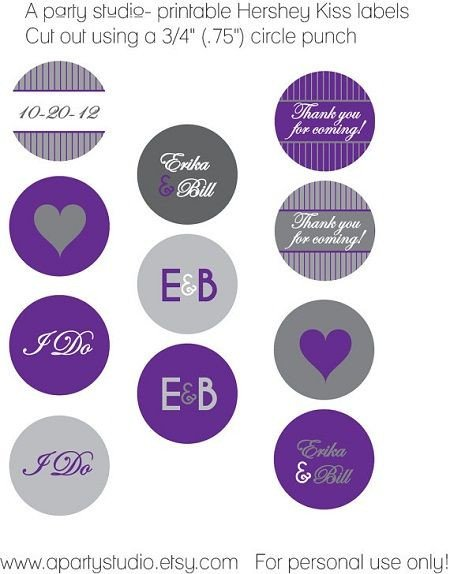 Hershey Kiss Labels Template Hershey Kiss Wedding Sticker Template Hershey Kiss