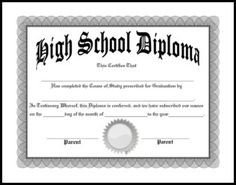 High School Diploma Template 1000 Ideas About High School Diploma On Pinterest