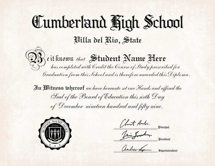 High School Diploma Template 25 High School Diploma Template 2019 Free Doc