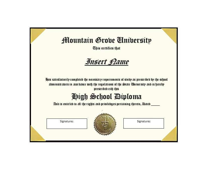 High School Diploma Template 30 Real & Fake Diploma Templates High School College