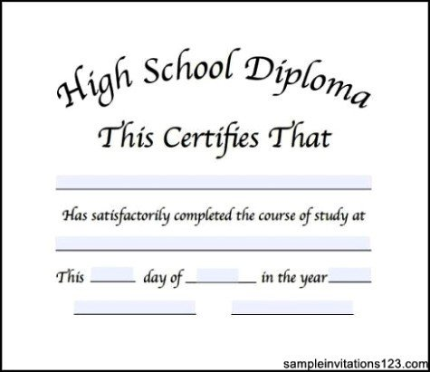 High School Diploma Template 50 Free High School Diploma Template Printable