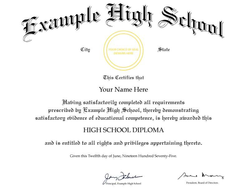 High School Diploma Template Buy A Fake College Degree Line