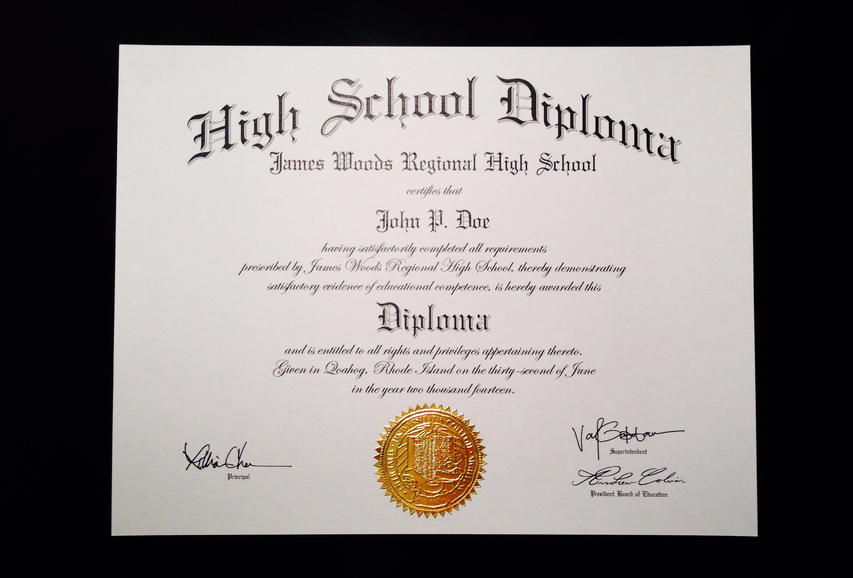 High School Diploma Template Buy A Fake High School Diploma Line