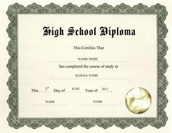 High School Diploma Template Diploma Free Templates Clip Art & Wording