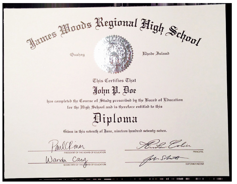High School Diploma Template Fake High School Diplomas & Certificates