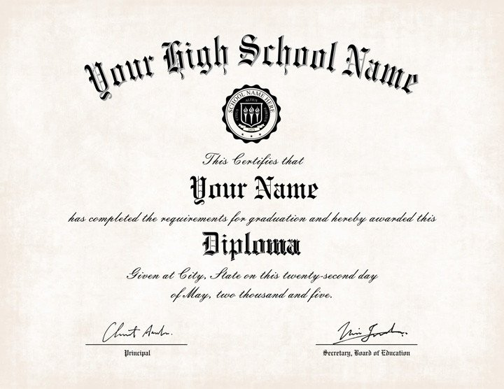 High School Diploma Template Free Printable High School Diploma Templates