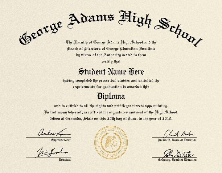 High School Diploma Template High School Diploma Template Printable Certificate