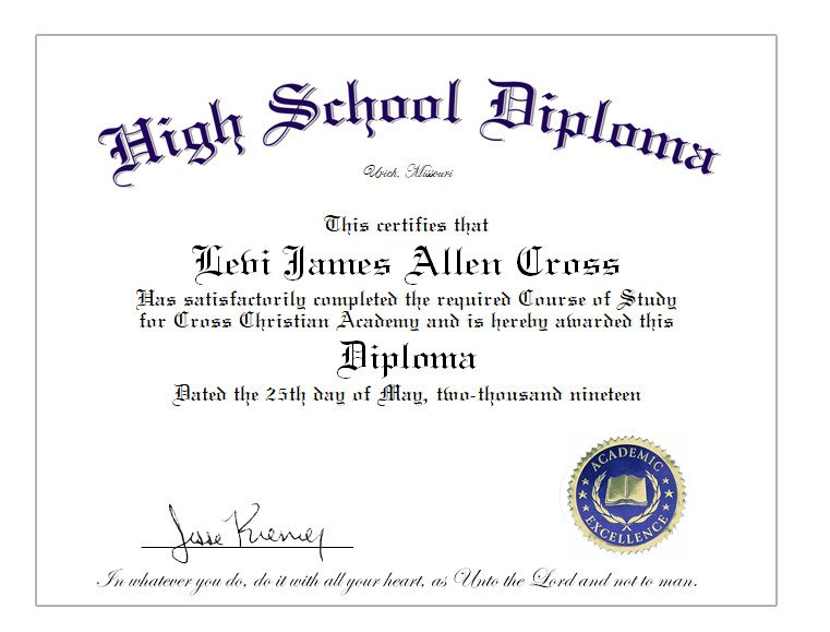 High School Diploma Template High School Home School Diploma Cover & Diploma Sheet $39 10