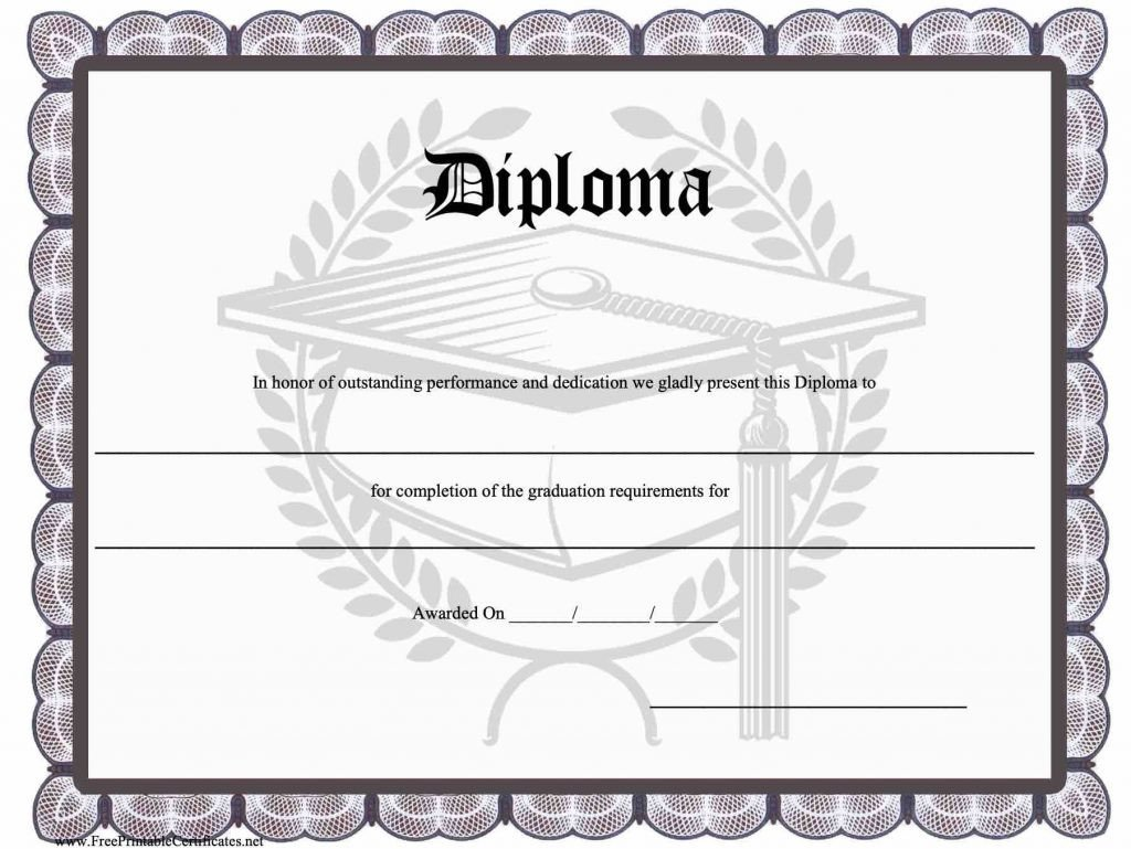 High School Diploma Template Pdf 25 High School Diploma Template 2019 Free Doc