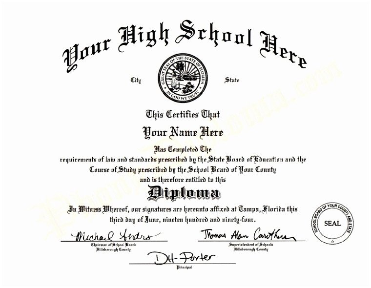 High School Diploma Template Pdf 9 Printable Fake Diploma Templates Tiati