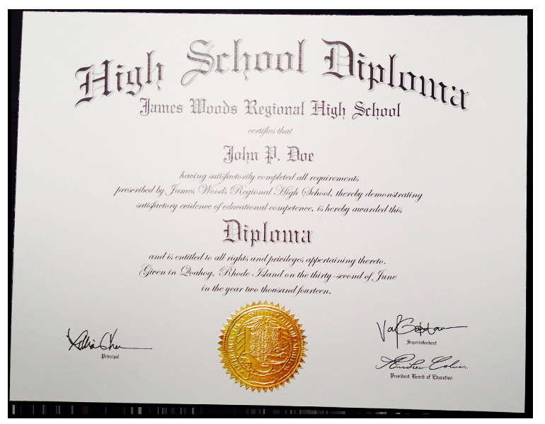 High School Diploma Template Pdf Fake High School Diplomas & Certificates