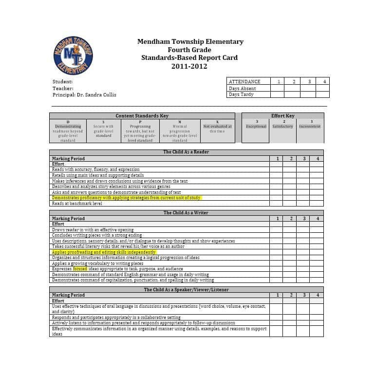 High School Report Card Template 30 Real & Fake Report Card Templates [homeschool High
