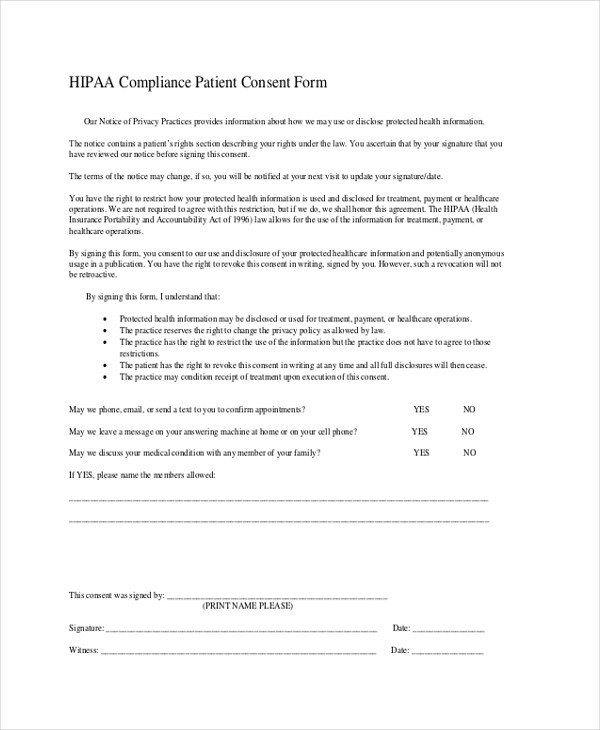 Hipaa Compliance forms for Employees Hipaa Pliance form for