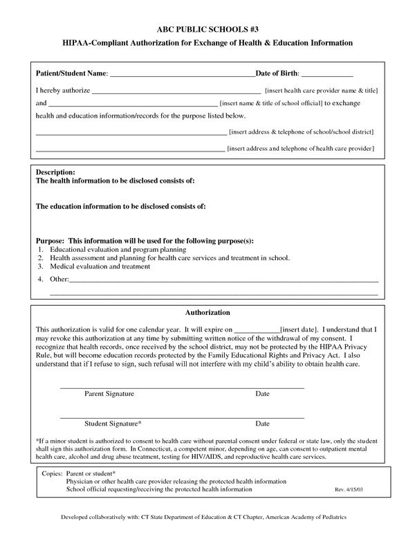 Hipaa Compliance forms for Employers Hipaa Pliant Authorization form Sample forms