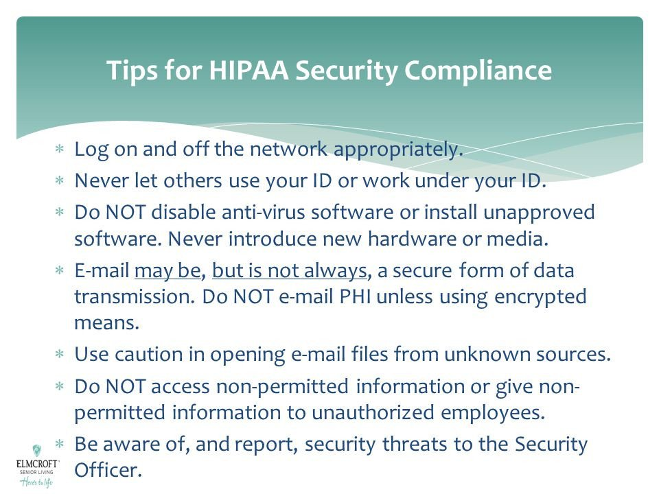 Hipaa Compliance forms for Employers Hipaa Privacy & Security Training Module Ppt