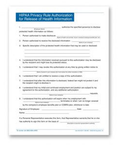 Hipaa Compliance forms for Employers Personnelconcepts