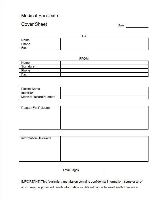 Hipaa Fax Cover Sheet 12 Cover Sheet Doc Pdf