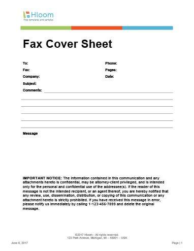 Hipaa Fax Cover Sheet 29 Free Printable Fax Cover Sheet Templates