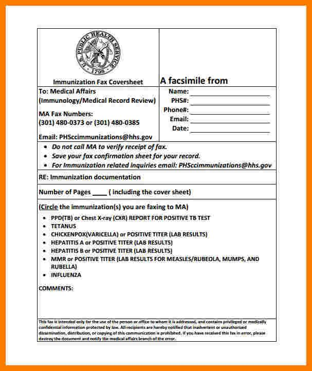 Hipaa Fax Cover Sheet 8 Medical Fax Cover Sheet Templates