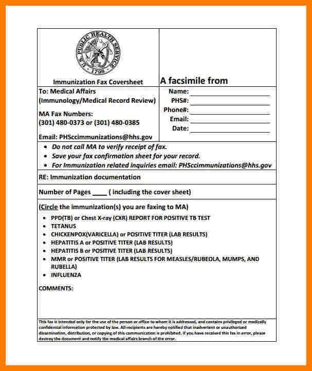 Hipaa Fax Cover Sheet 8 Medical Fax Cover Sheet Templates